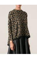 Hache Animal Print Top - Lyst