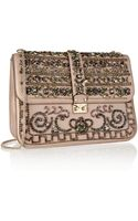Valentino Crystal-embellished Leather Shoulder Bag - Lyst