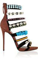 Giuseppe Zanotti Coline Embellished Suede Sandals - Lyst