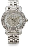 Saks Fifth Avenue Jeweled Stainless Steel Bracelet Watch - Lyst