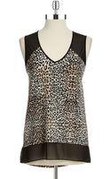 Vince Camuto Leopard Print Blouse - Lyst
