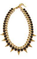 Joomi Lim Vicious Love Chain Pyramid Necklace Crystal - Lyst