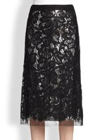 TOME Lamelined Lace Skirt - Lyst