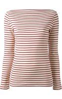 Erika Cavallini Semi Couture Striped Top - Lyst