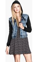 H&M Hooded Denim Jacket - Lyst
