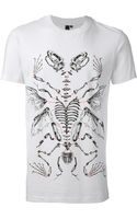 McQ by Alexander McQueen Reptile Skeleton Tshirt - Lyst