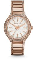 Michael Kors Kerry Pavé-embellished Rose Gold-tone Watch - Lyst