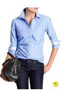 Banana Republic Factory Oxford Shirt - Blue - Lyst