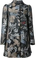 RED Valentino Floral Jacquard Coat - Lyst