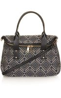 Topshop Tapestry Flap Over Holdall Bag - Lyst