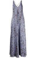 Derek Lam 10 Crosby V Neck Leopard Print Maxi Dress - Lyst