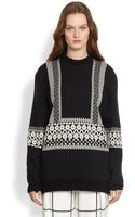 Chloé Wool Knit Jacquard Sweater - Lyst