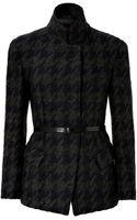 Donna Karan New York Wool-mohair-cashmere Houndstooth Jacket - Lyst