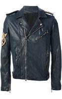 Balmain Naval Style Biker Jacket - Lyst