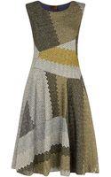 Missoni Metallic Patchwork Flare Dress - Lyst