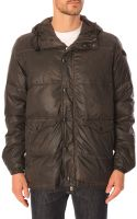 Diesel Wikesh Black Hooded Down Jacket - Lyst