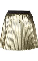 RED Valentino Laminated Pleated Skirt - Lyst