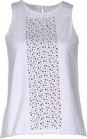Laltramoda Sleeveless Tshirt - Lyst