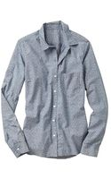 Gap Fitted Boyfriend Printed Chambray Shirt - Lyst