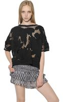 Etoile Isabel Marant Embroidered Flower Crochet Top - Lyst