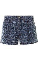 Etoile Isabel Marant Makya Embroidered Shorts - Lyst