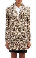 Carven Leopardspot Doublebreasted Coat - Lyst