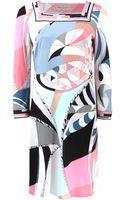 Emilio Pucci Square Neck Printed Dress - Lyst
