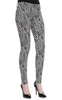 J Brand Midrise Super Skinny Pants Abstract Zebra - Lyst