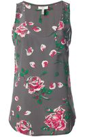 Joie Floral Print Tank Top - Lyst