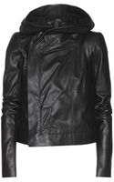 Rick Owens Hooded Leather Jacket - Lyst