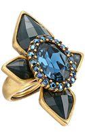 Oscar de la Renta Multi Diamond Ring - Lyst