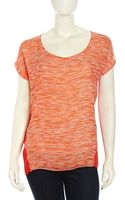 Nydj Capsleeve Brushed Stripe Print Blouse - Lyst