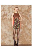 San & Soni Shift Color Block Dress - Lyst