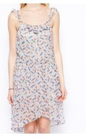 Traffic People Silk Lip Print Dress - Lyst
