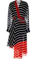 Preen Printed Silk Georgette Flintoff Fringe Dress - Lyst