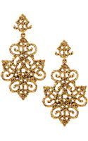 Oscar de la Renta Filigree Chandelier Earrings - Lyst