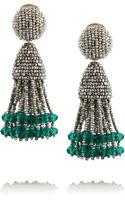 Oscar de la Renta Beaded Tassel Earrings - Lyst