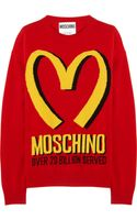Moschino Intarsia Wool and Cashmere Blend Sweater - Lyst