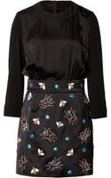 Victoria, Victoria Beckham Dress with Embellished Skirt - Lyst