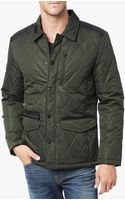 7 For All Mankind Mix Media Quilted Jacket - Lyst