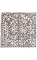 Alexander McQueen Animalprint Silk Chiffon Scarf Powderblack - Lyst