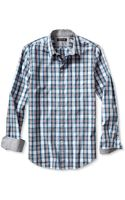 Banana Republic Tailored Slim Fit Soft Wash Heathered Check Shirt Mantego Bay - Lyst