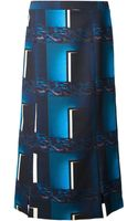 Kenzo Geometric Print Midi Skirt - Lyst