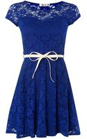 Wal-g Lace Cap Sleeve Dress - Lyst
