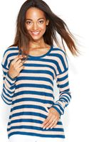 Maison Jules Patch-pocket Striped Sweater - Lyst
