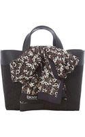 DKNY Scarf Black Medium Tote Bag - Lyst