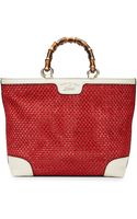 Gucci Bamboo Shopper Straw Tote Bag - Lyst