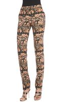 Etro Stretch Stencil Paisley Pants - Lyst