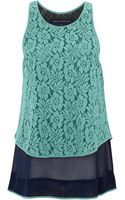 French Connection Poppy Lace Vest Top - Lyst