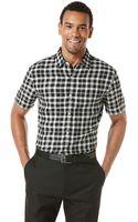 Perry Ellis Plaid Linen Sport Shirt - Lyst